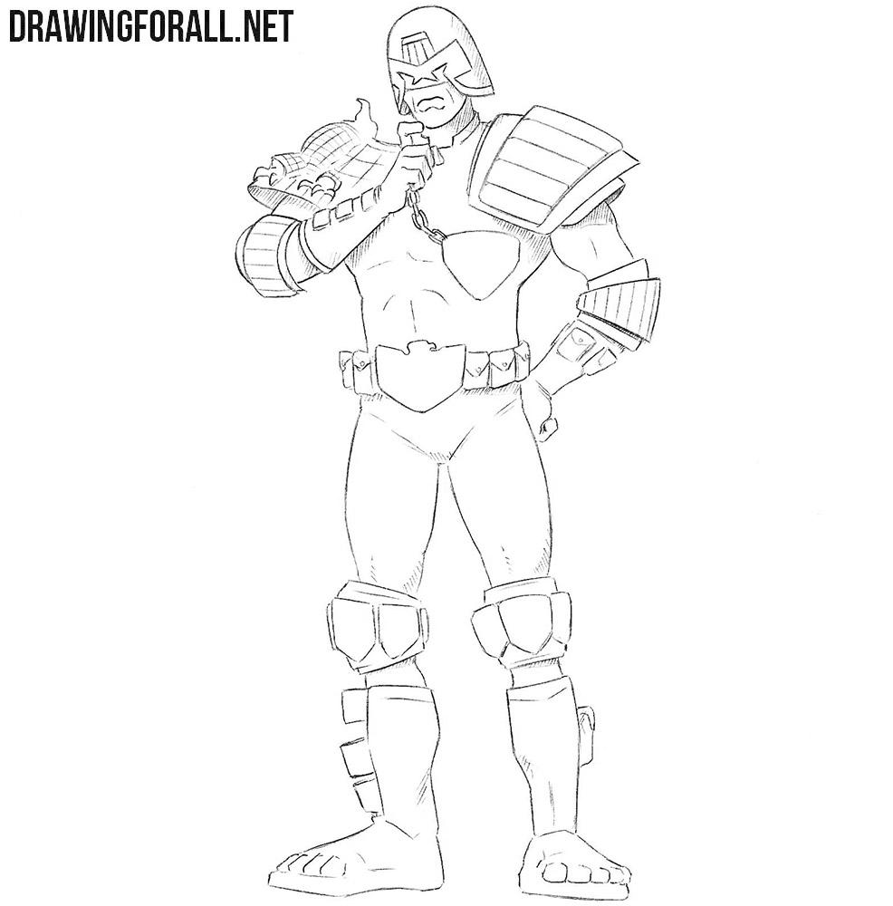 Judge Dredd drawing tutorial