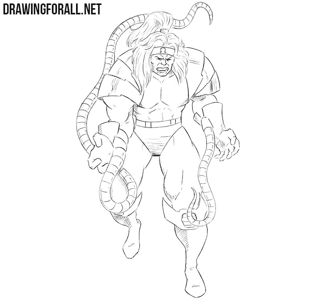 Omega Red drawing