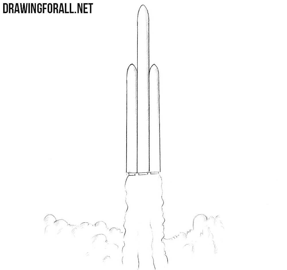 Rocket drawing tutorial