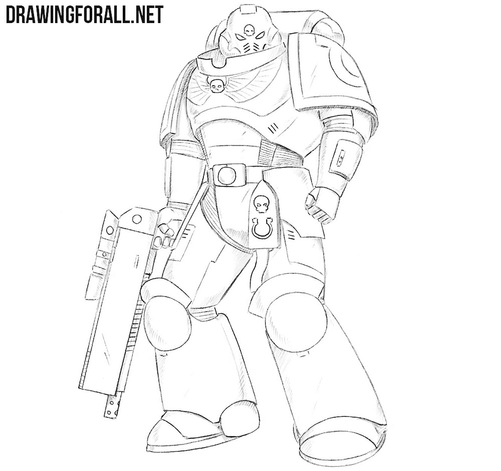 Space Marine drawing