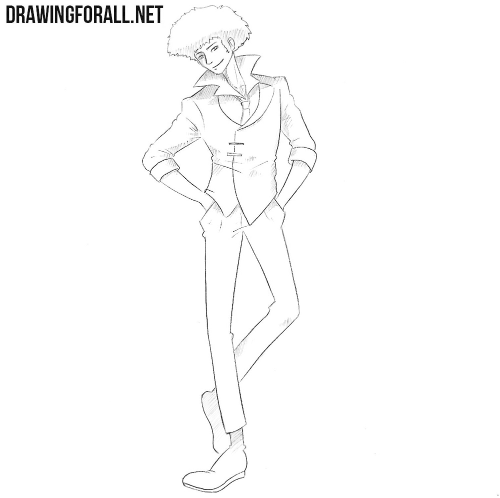 Spike Spiegel drawing