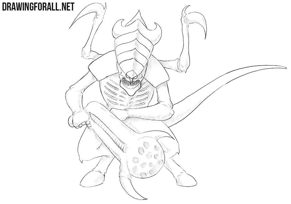 Tyranid drawing