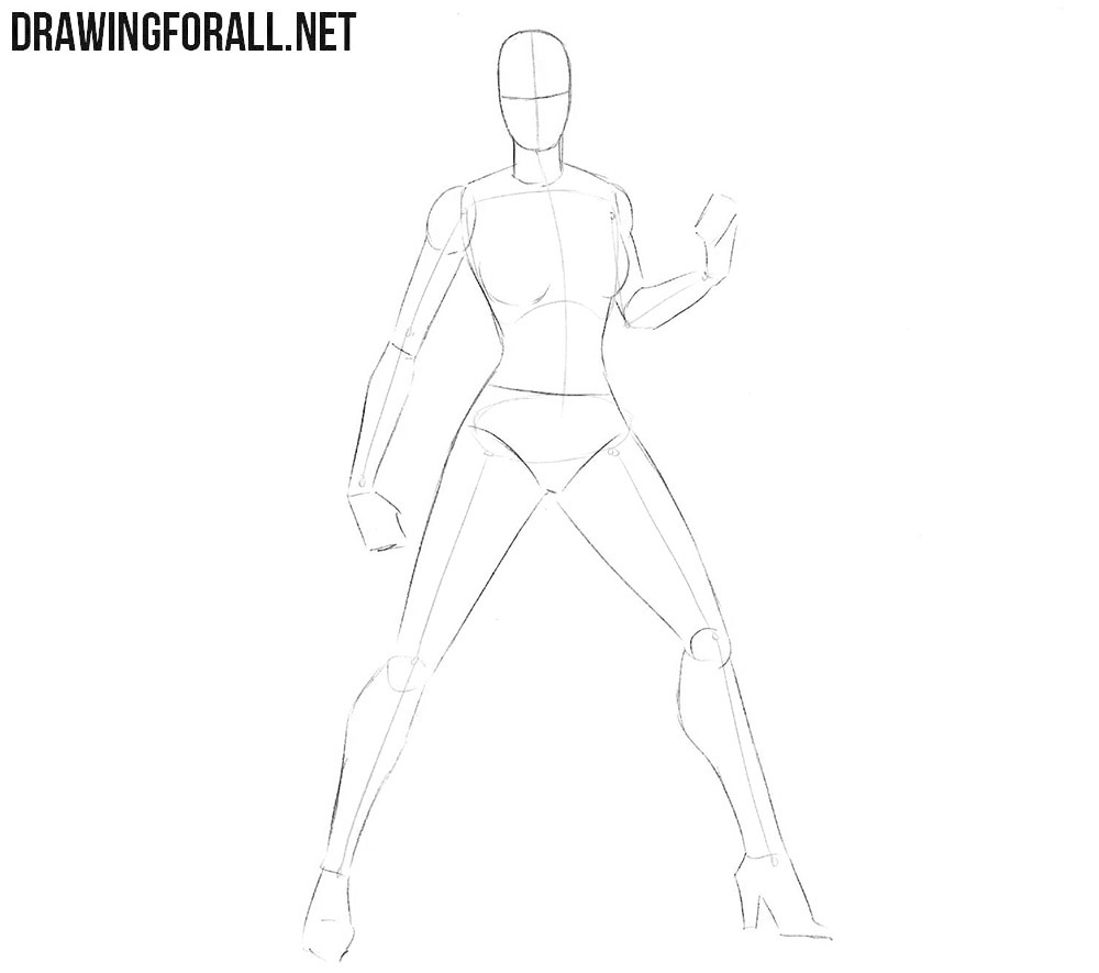 How to draw Batgirl step by step