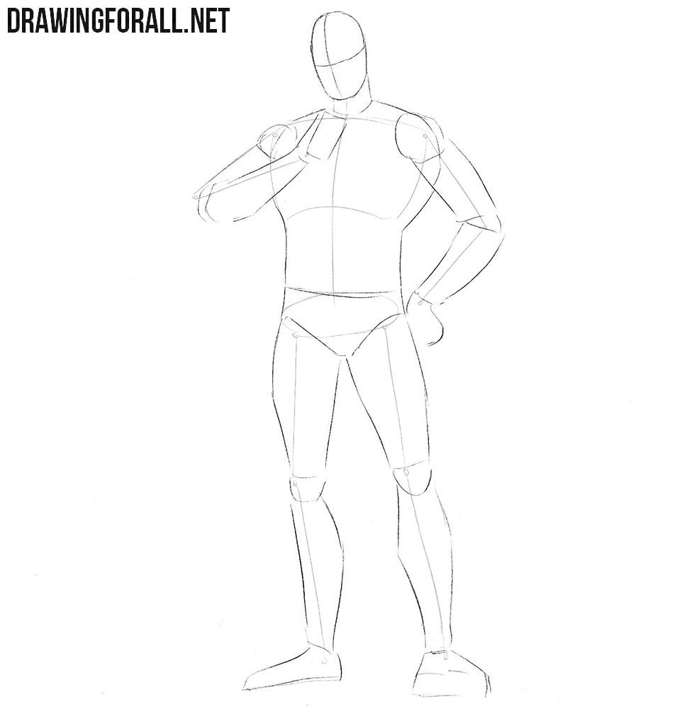 How to draw Judge Dredd step by step