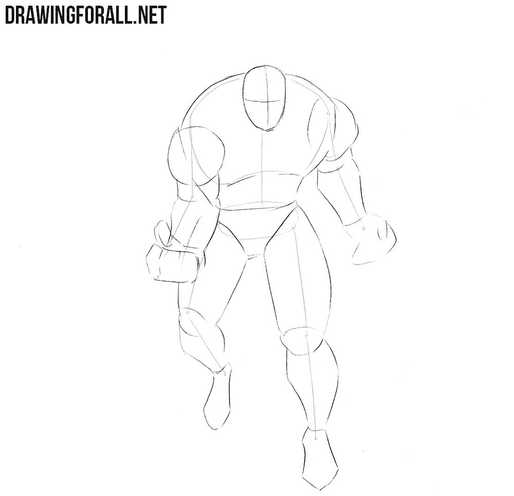 How to draw Omega Red from Marvel comics