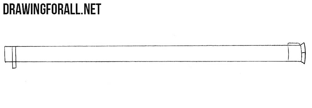 How to draw a Bazooka easy