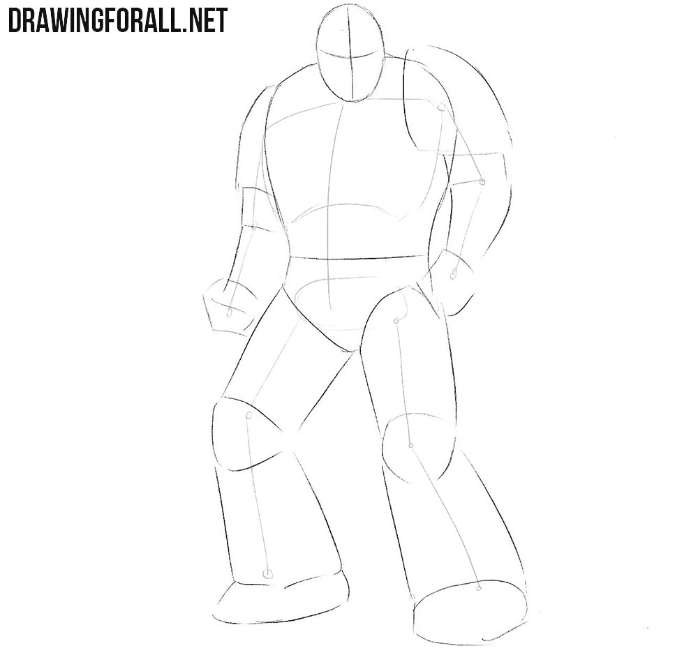 How to sketch a Space Marine