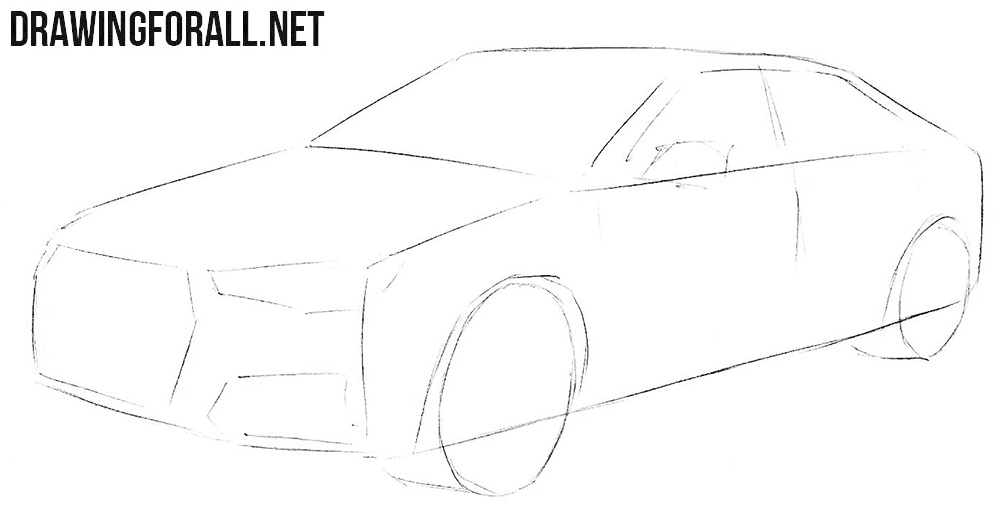 How to sketch an Audi A4