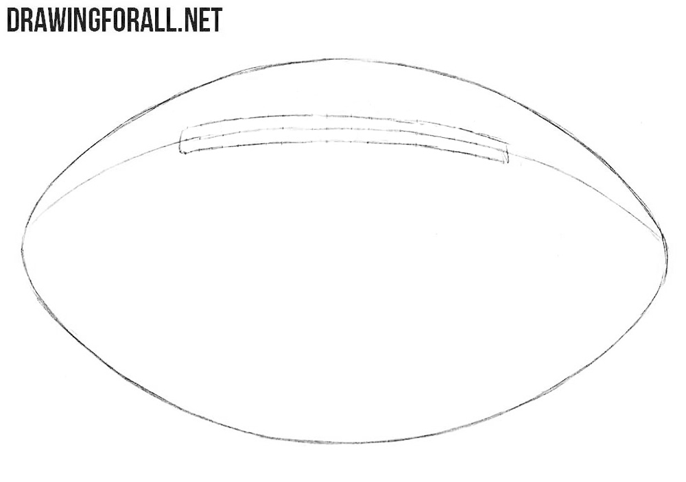 How to sketch an american football