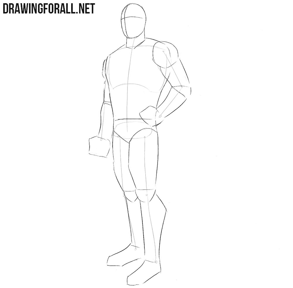 Learn how to draw Bucky Barnes step by step