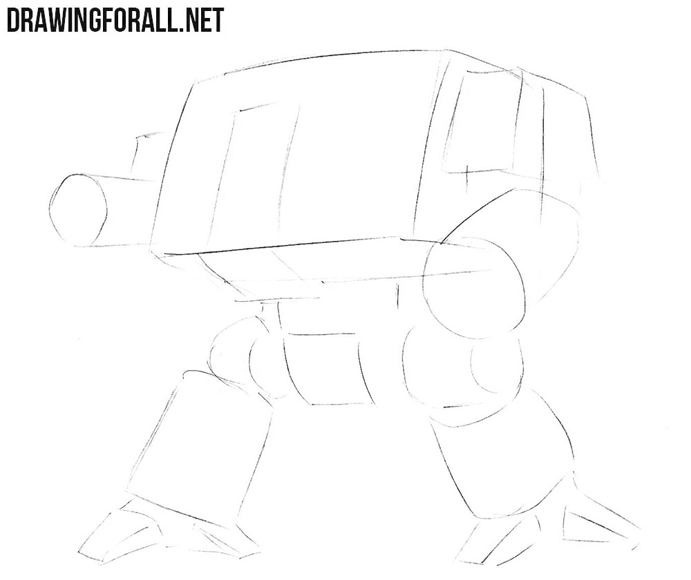 Learn how to draw a dreadnought from warhammer