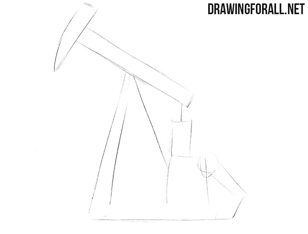 Oil derrick drawing tutorial