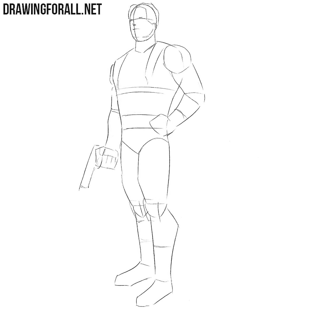 How to draw Bucky Barnes from Marvel Comics
