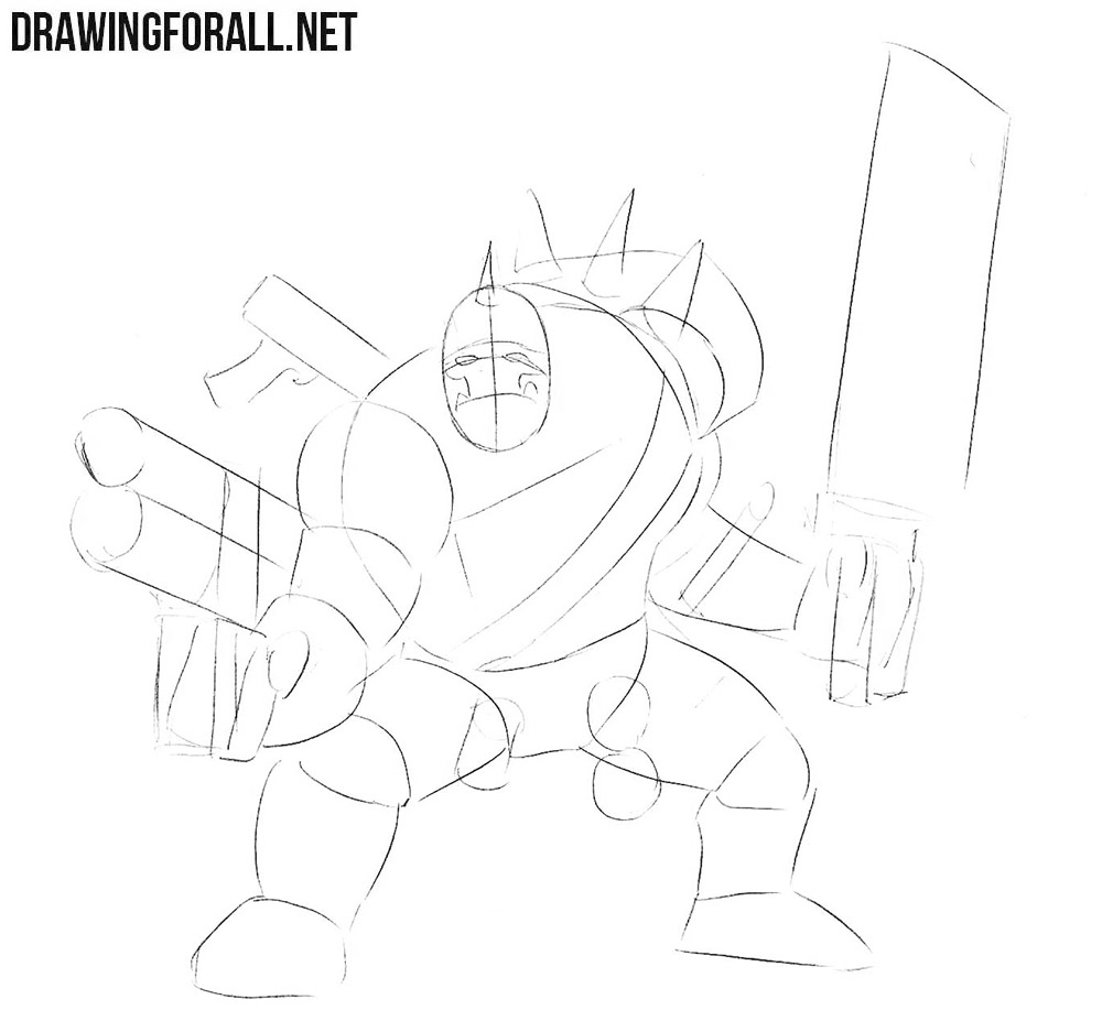 How to draw Warhammer