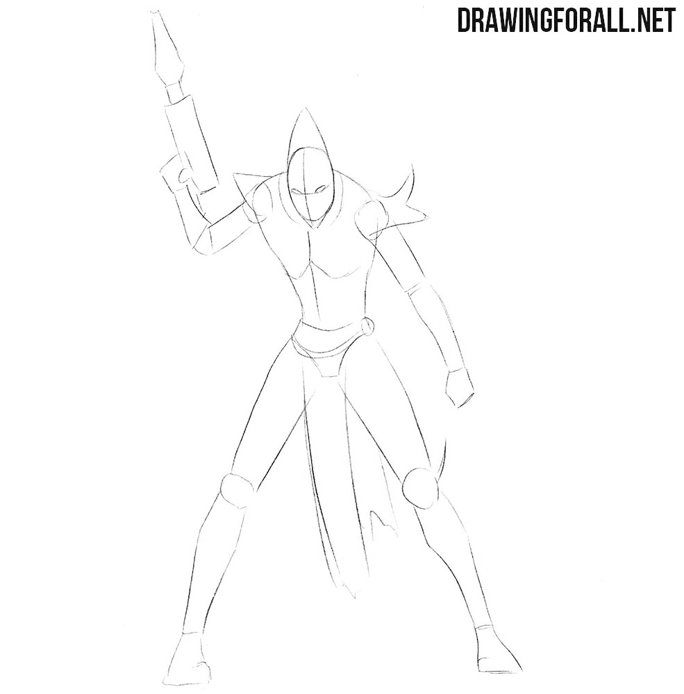 How to draw a dark eldar from Warhammer 40000