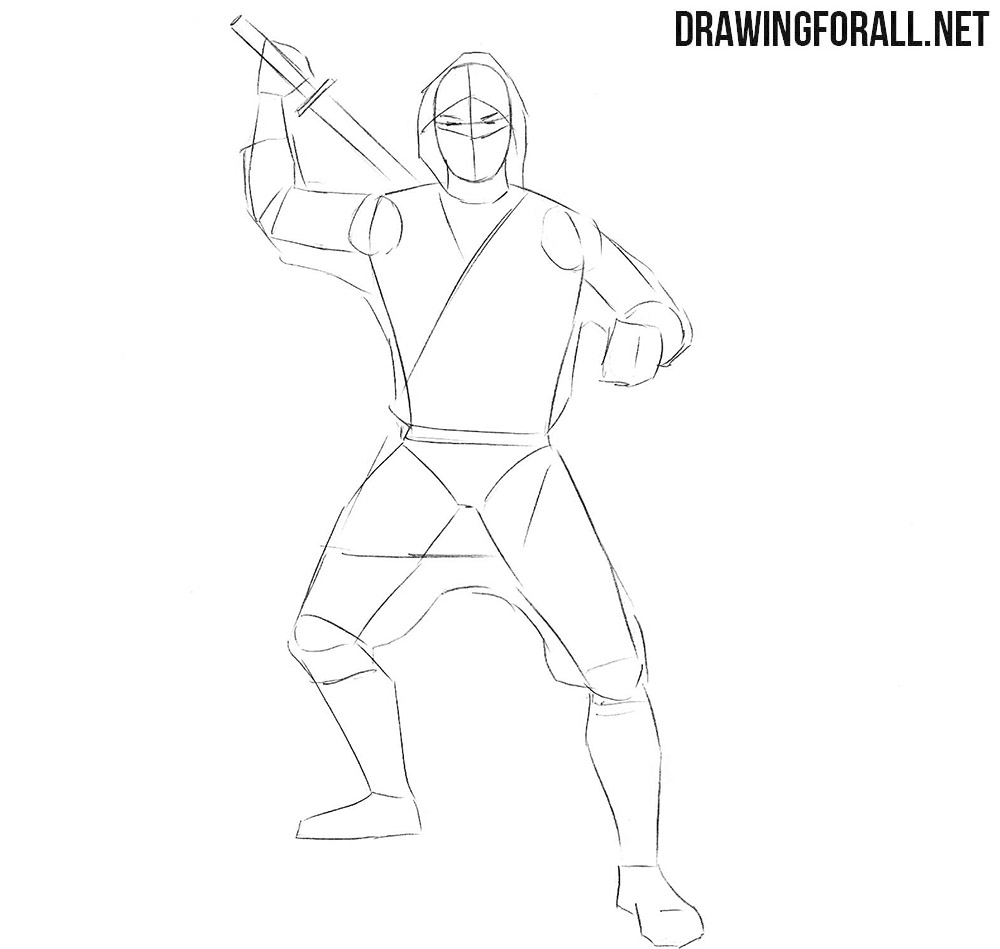 How to draw a ninja for beginners easy