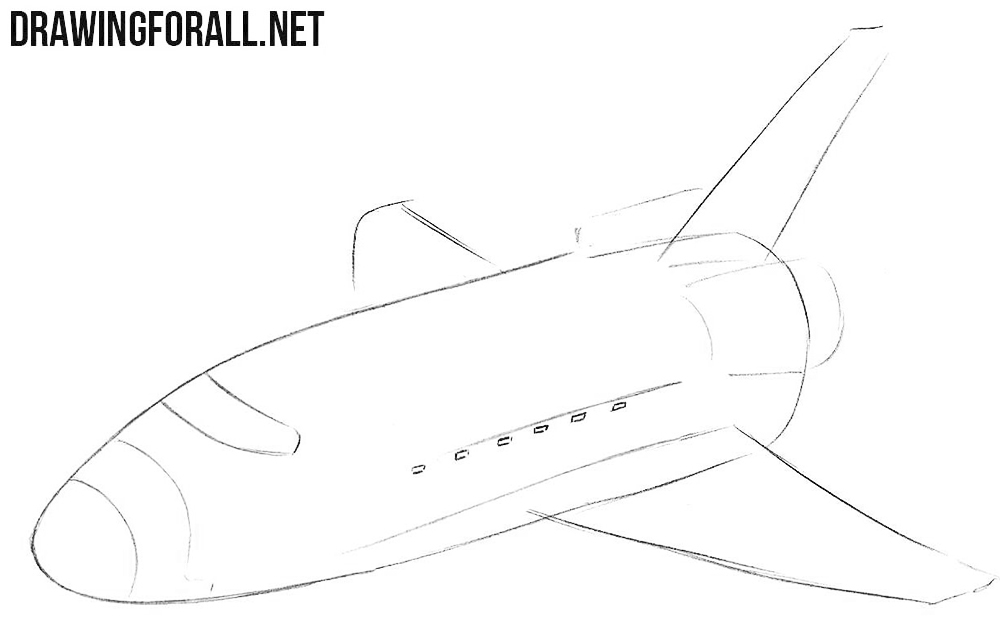 How to draw a space shuttle