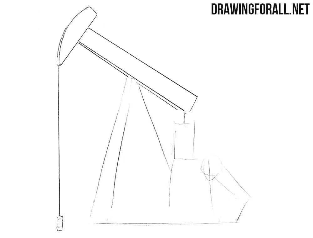 How to draw an oil derrick