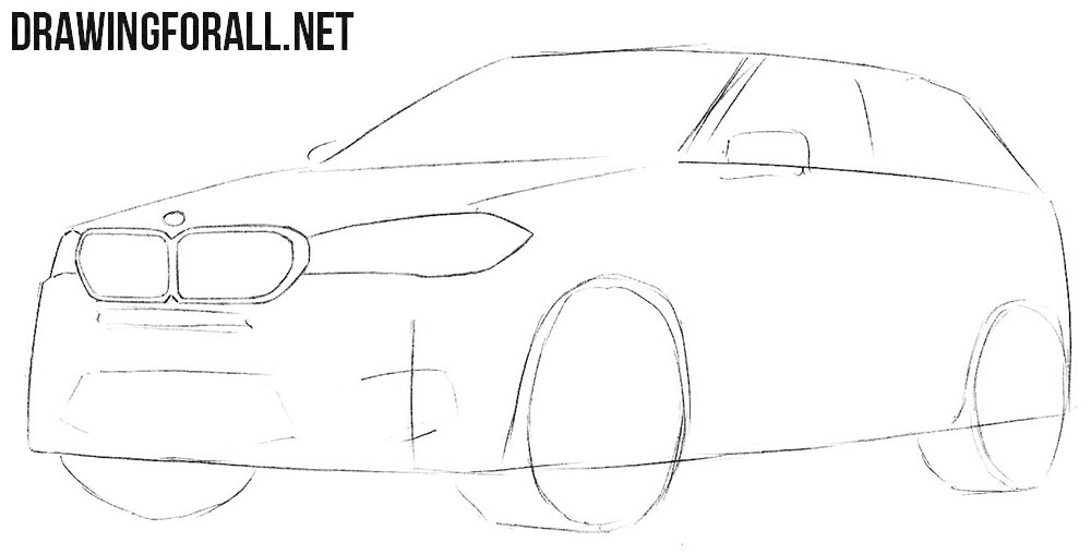 How to sketch a BMW X5