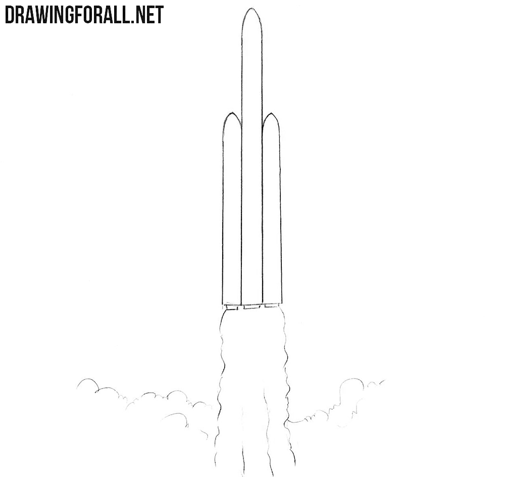 How to sketch a rocket easy