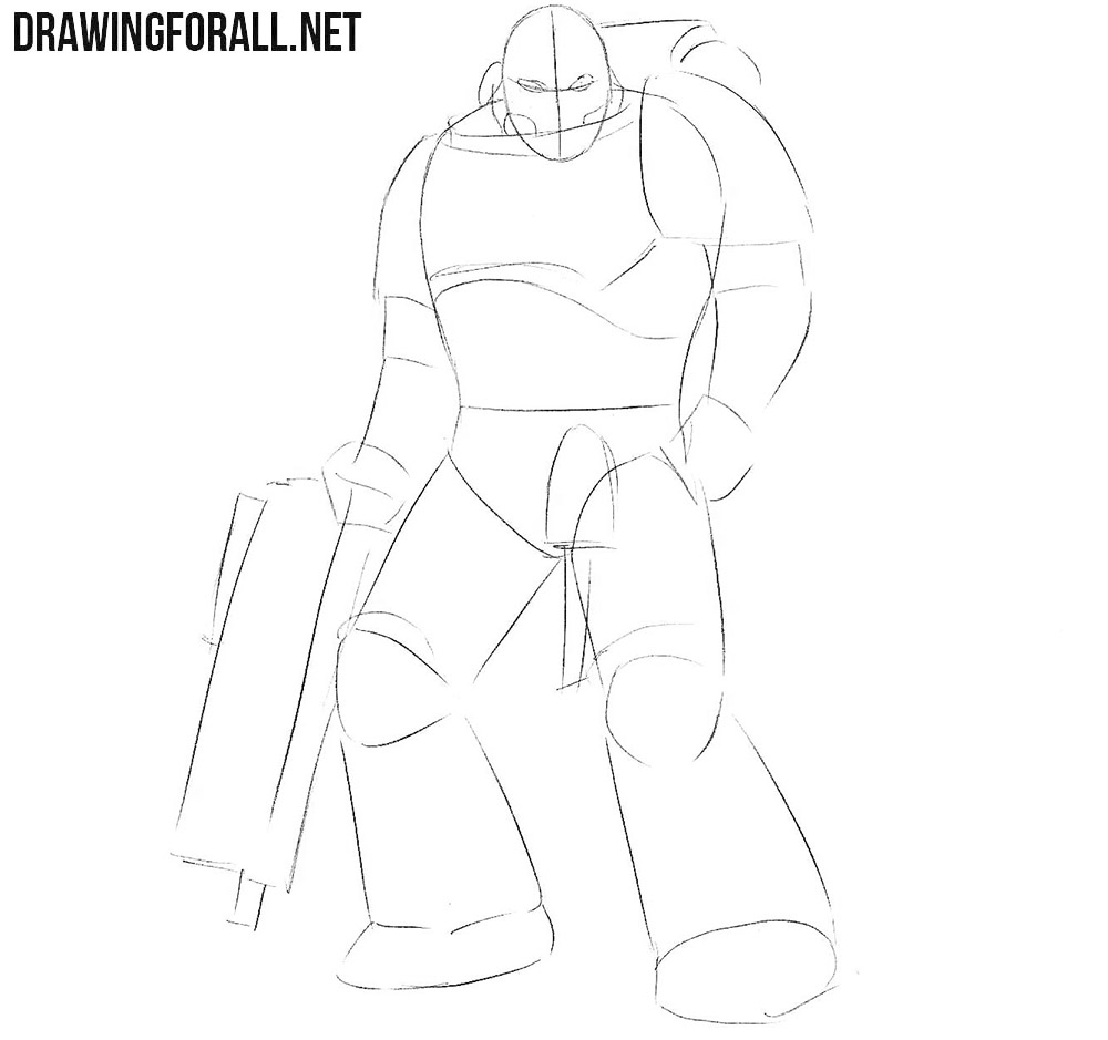 Learn how to draw a Space Marine step by step