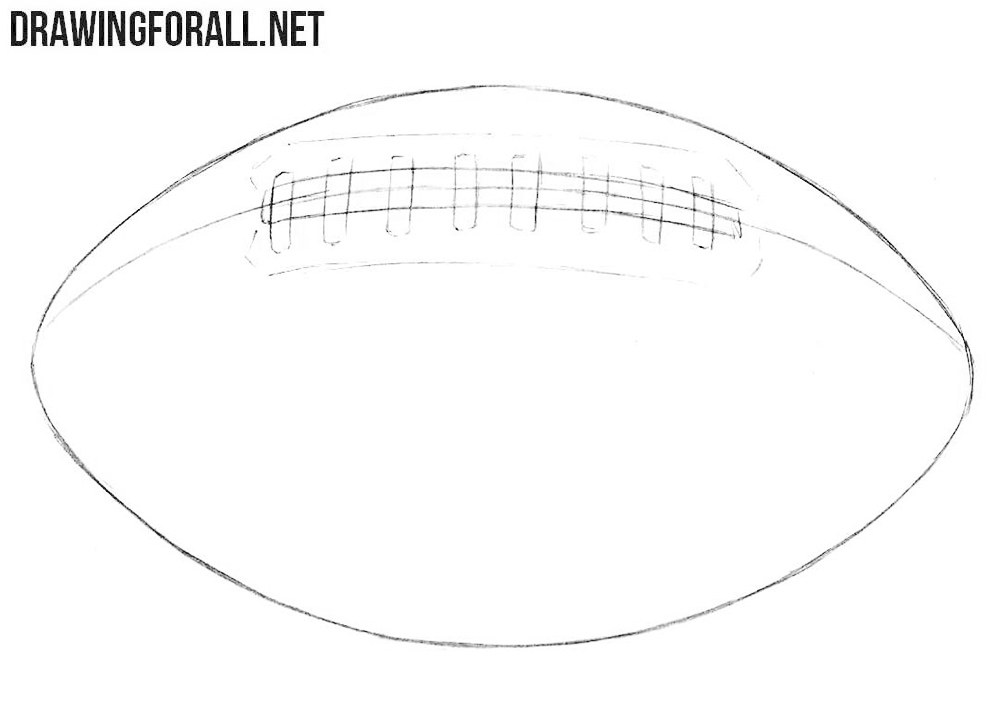Learn how to draw an american football