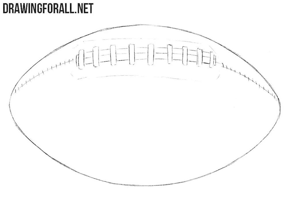 American football drawing tutorial
