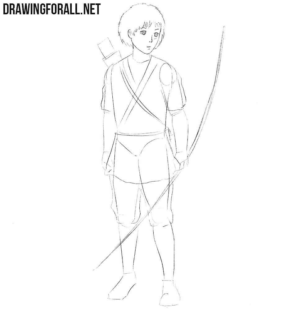 How to draw Ashitaka from princess Mononoke