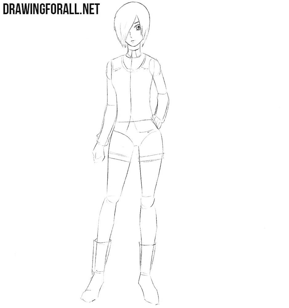 How to draw Touka Kirishima from Tokyo Ghoul