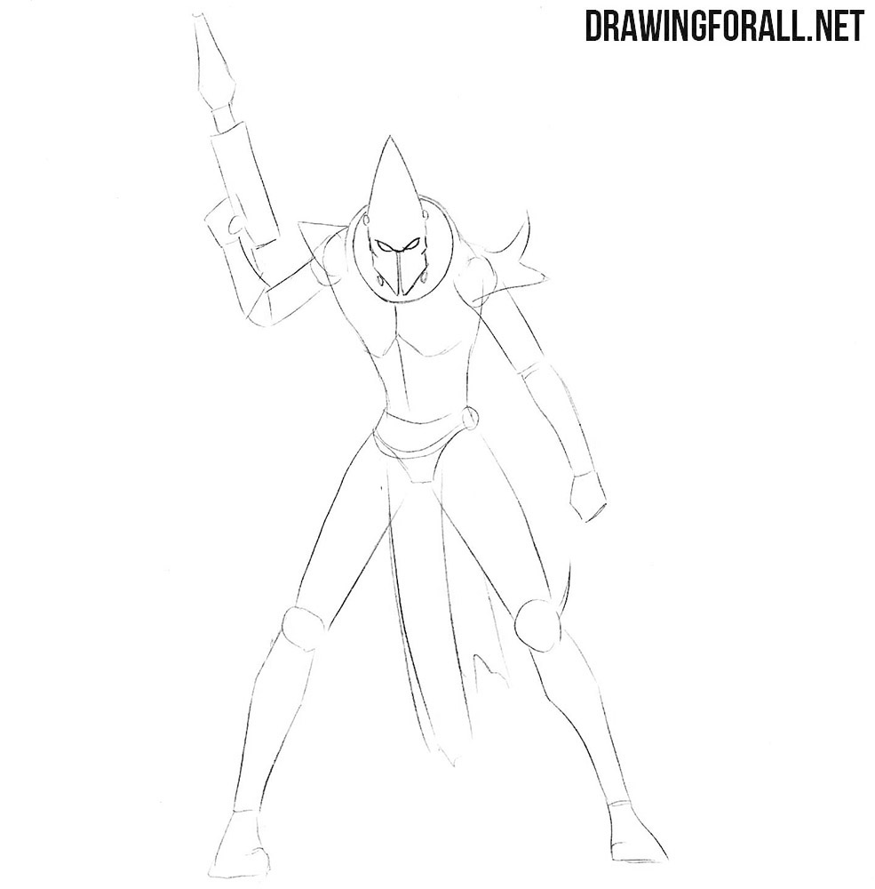 How to draw a dark eldar from Warhammer