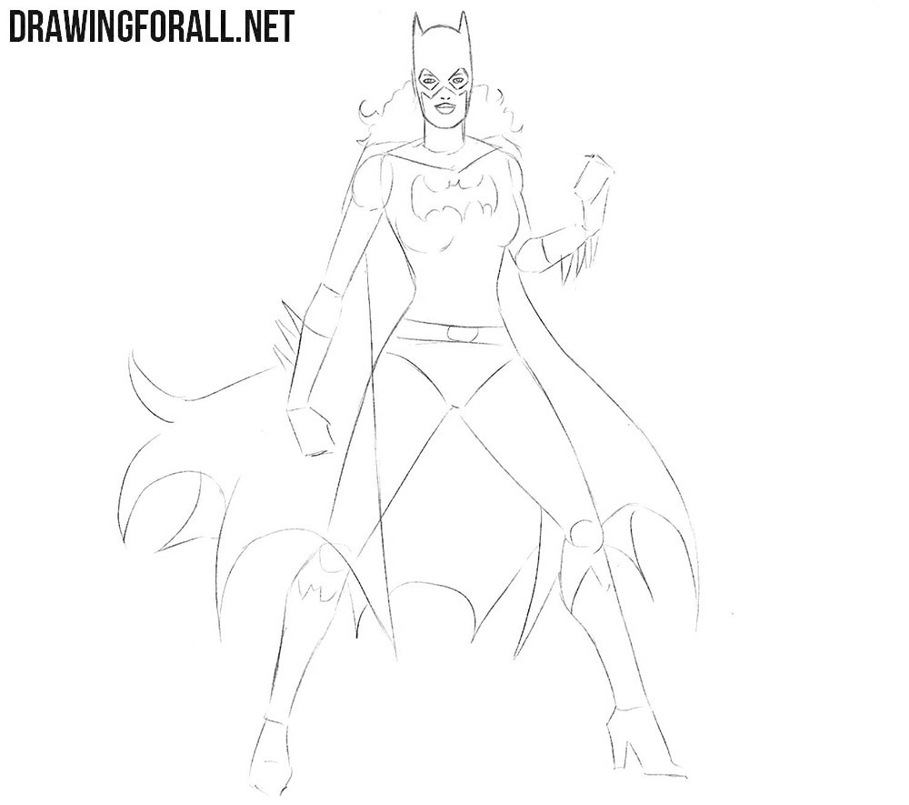 Learn how to draw Batgirl from comics