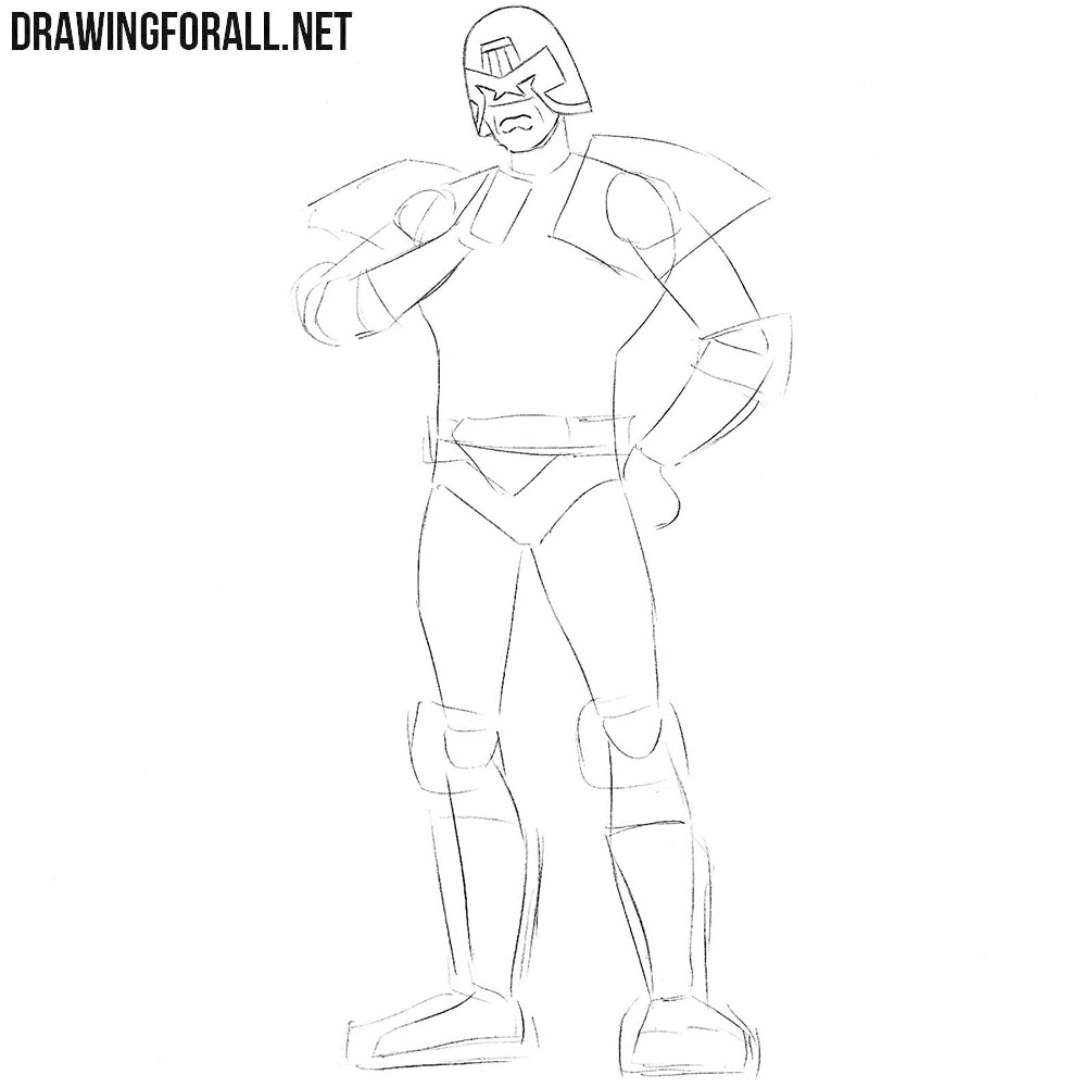 Learn how to draw Judge Dredd