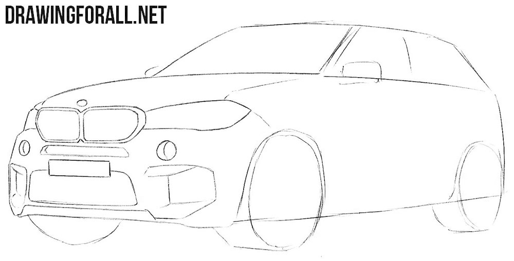 Learn how to draw a BMW step by step