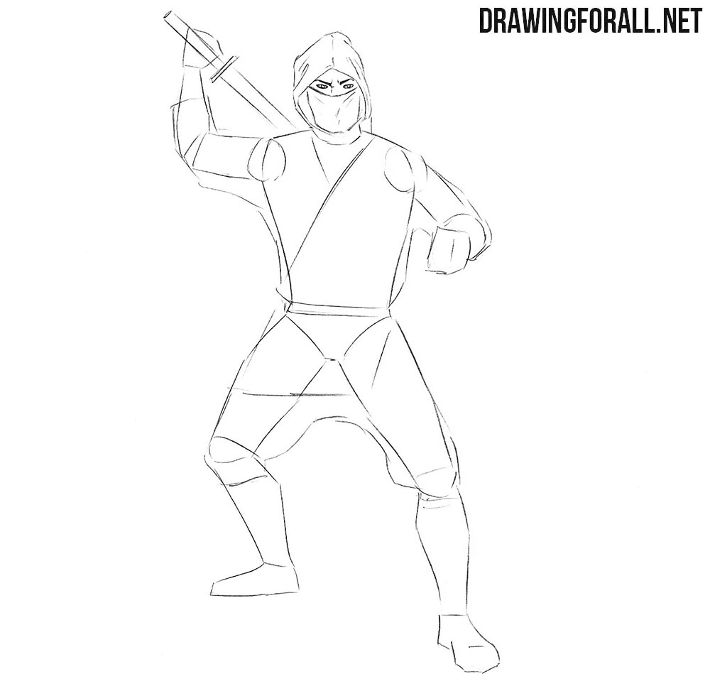 Learn how to draw a ninja for kids