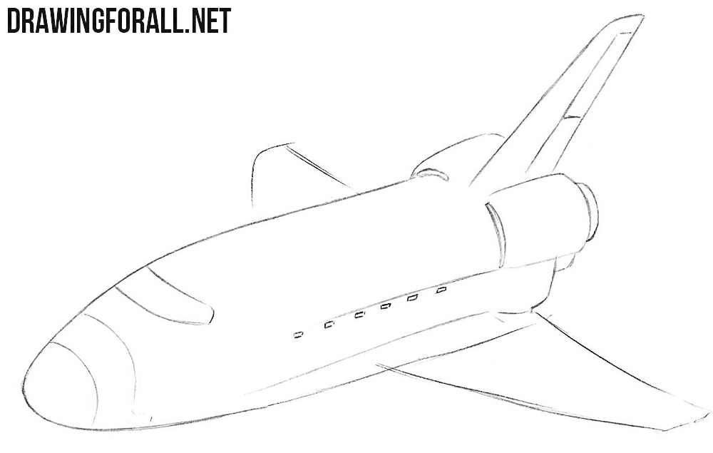 Learn how to draw a shuttle step by step
