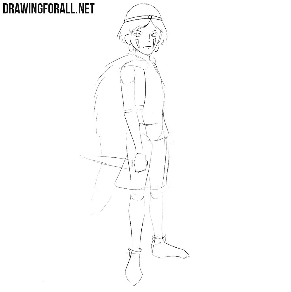 Princess Mononoke art lesson