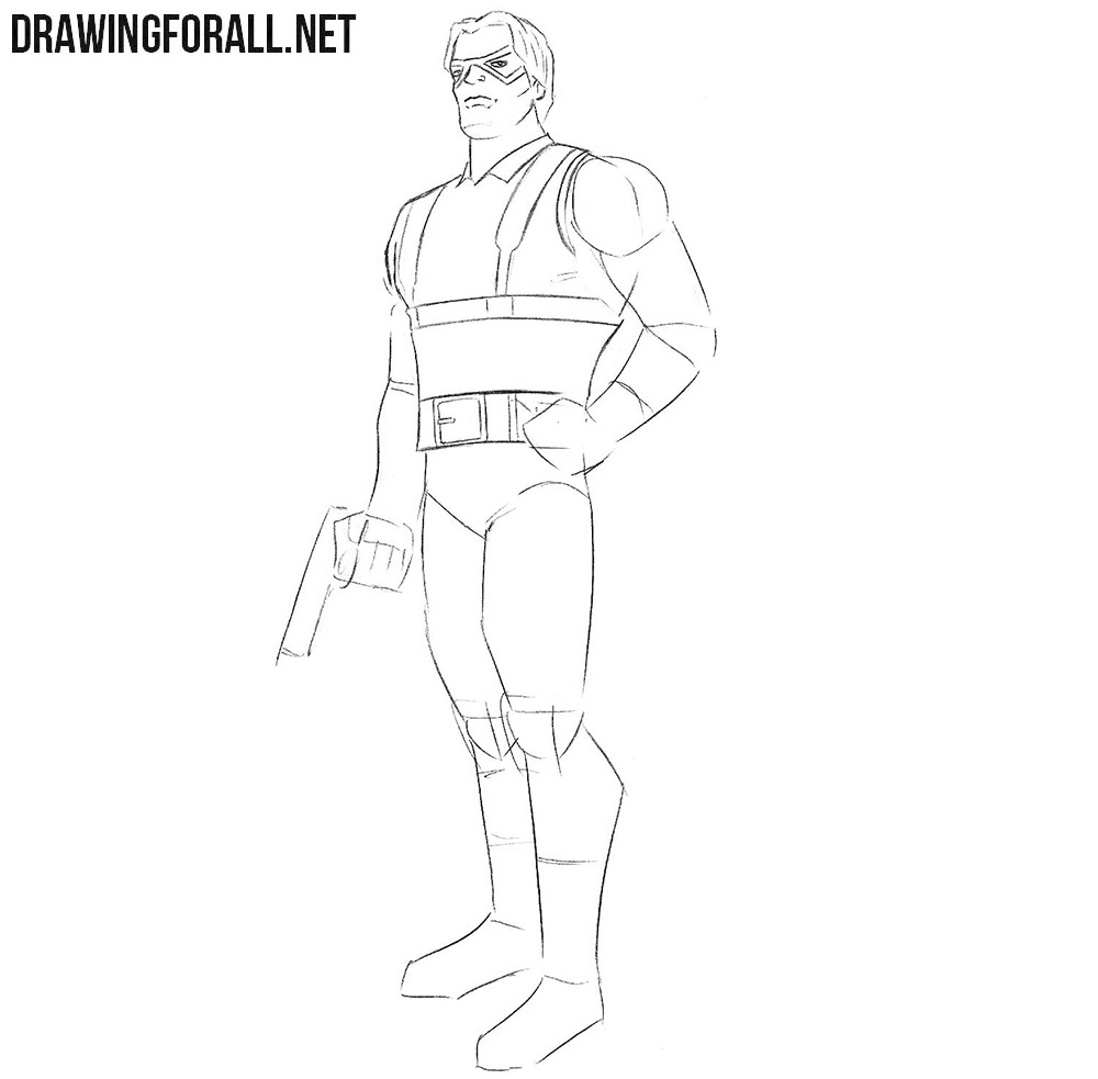 Bucky Barnes drawing tutorial