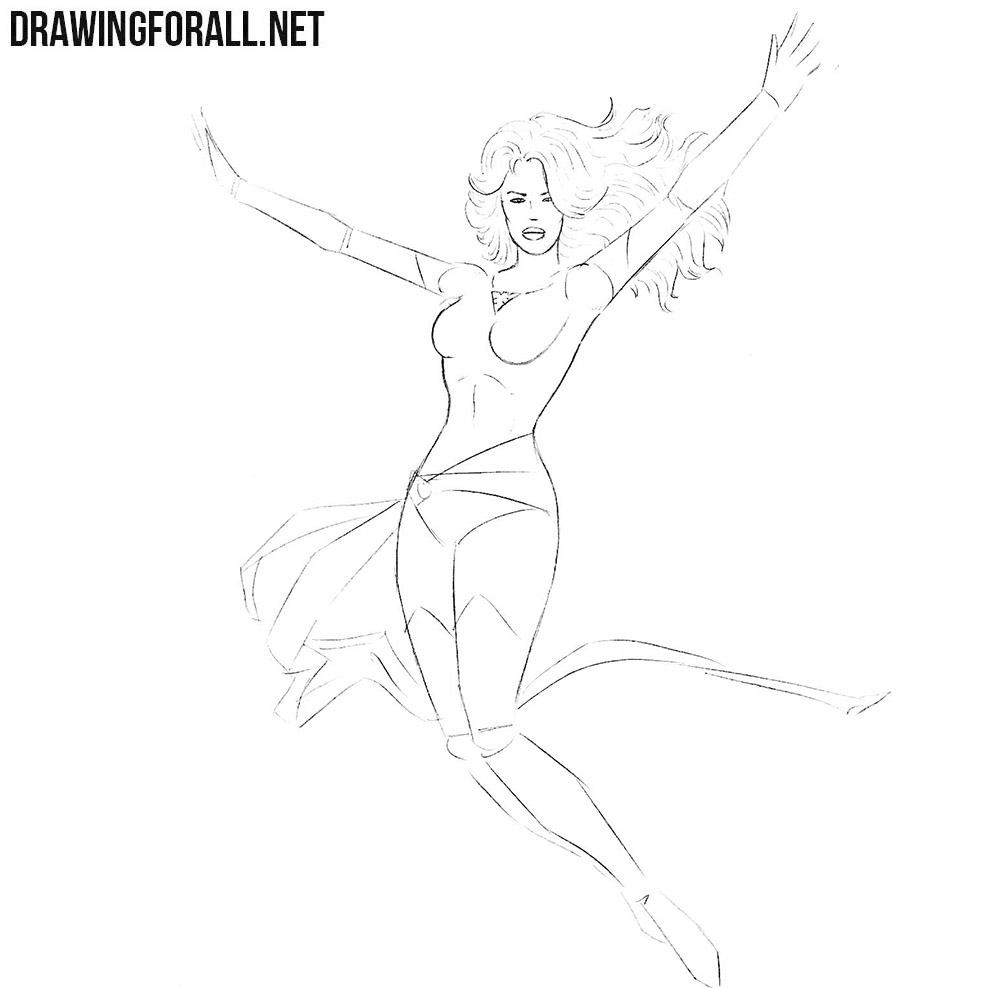 How to Draw Jean Grey from Marvel Comics