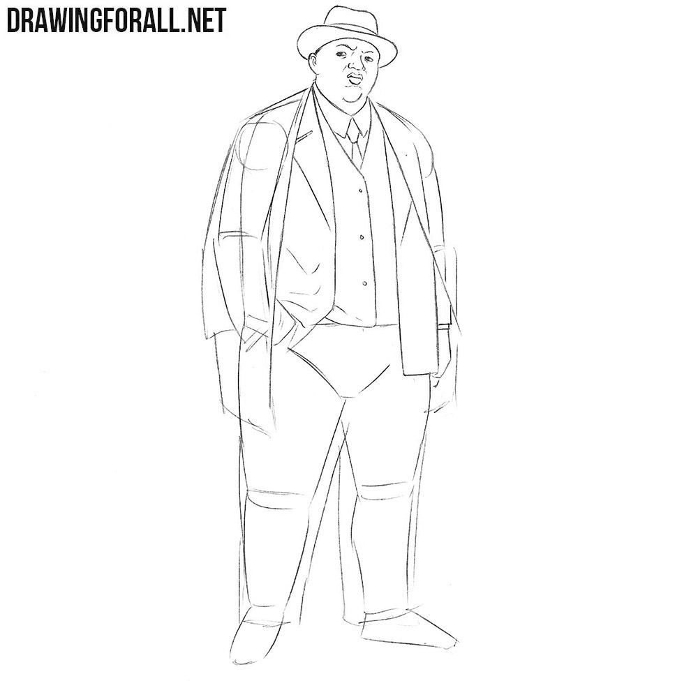 How to draw Christopher George Latore Wallace