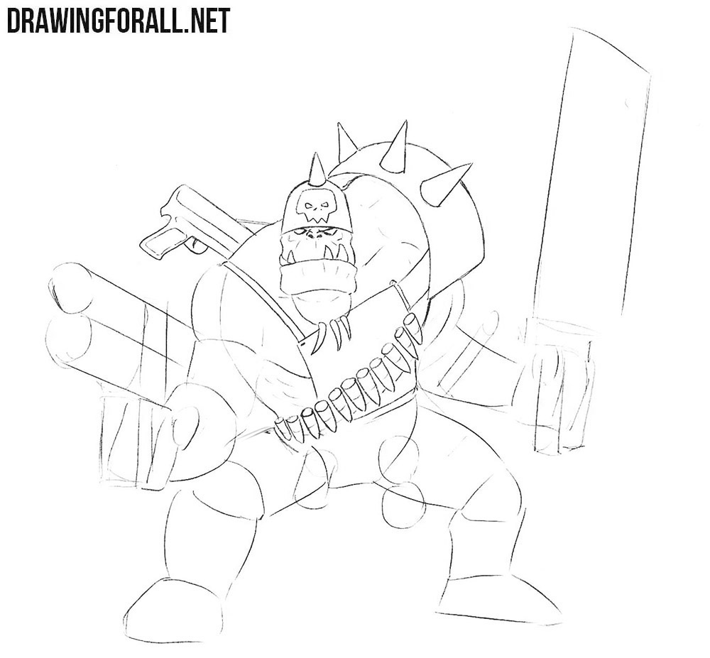 How to draw an ork easy