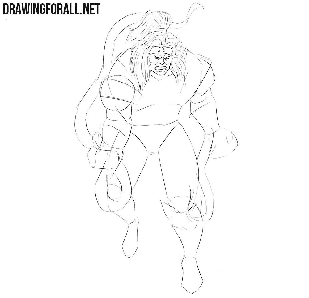 Learn how to draw Omega Red step by step
