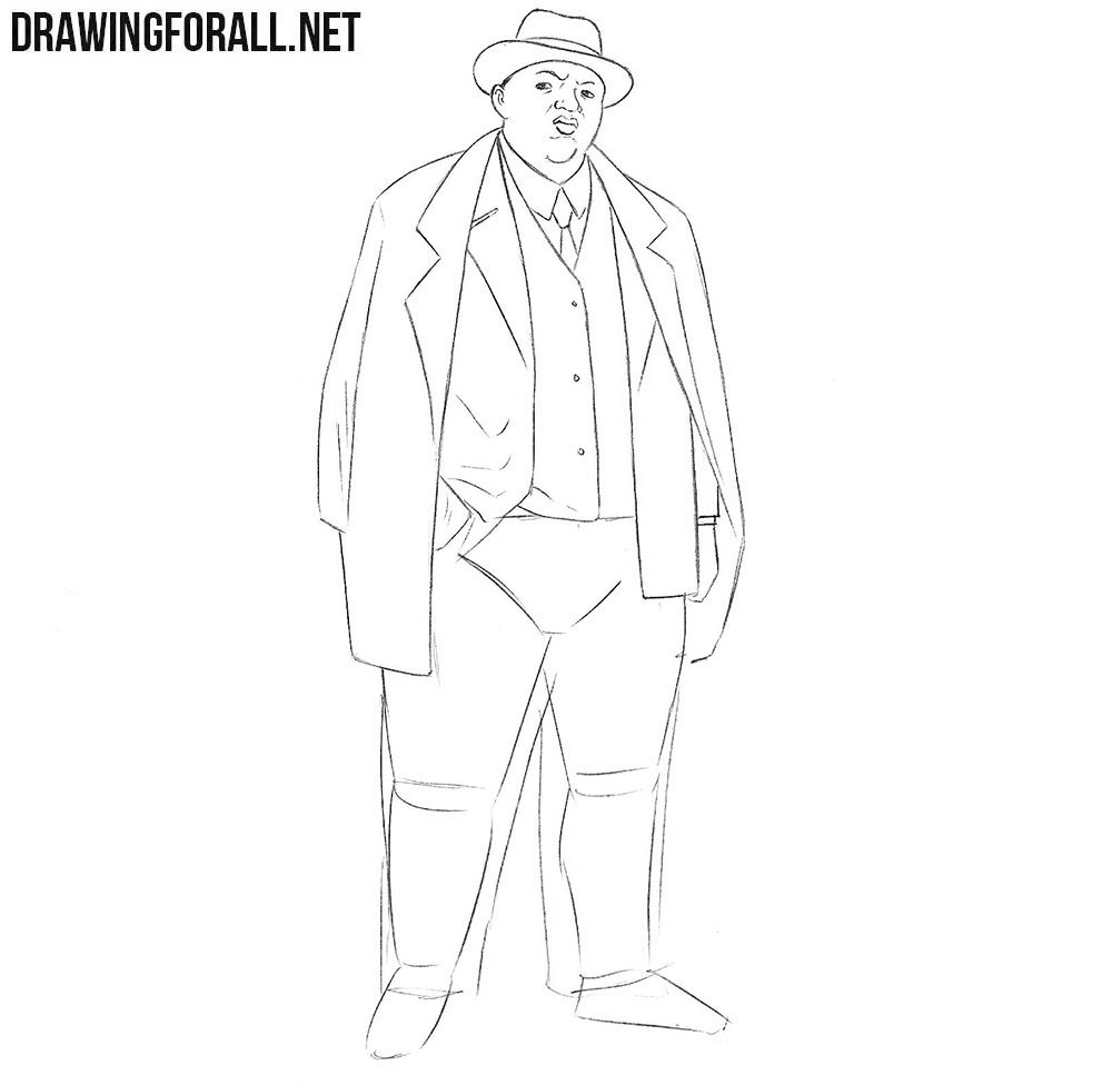 How to draw Biggie Smalls step by step