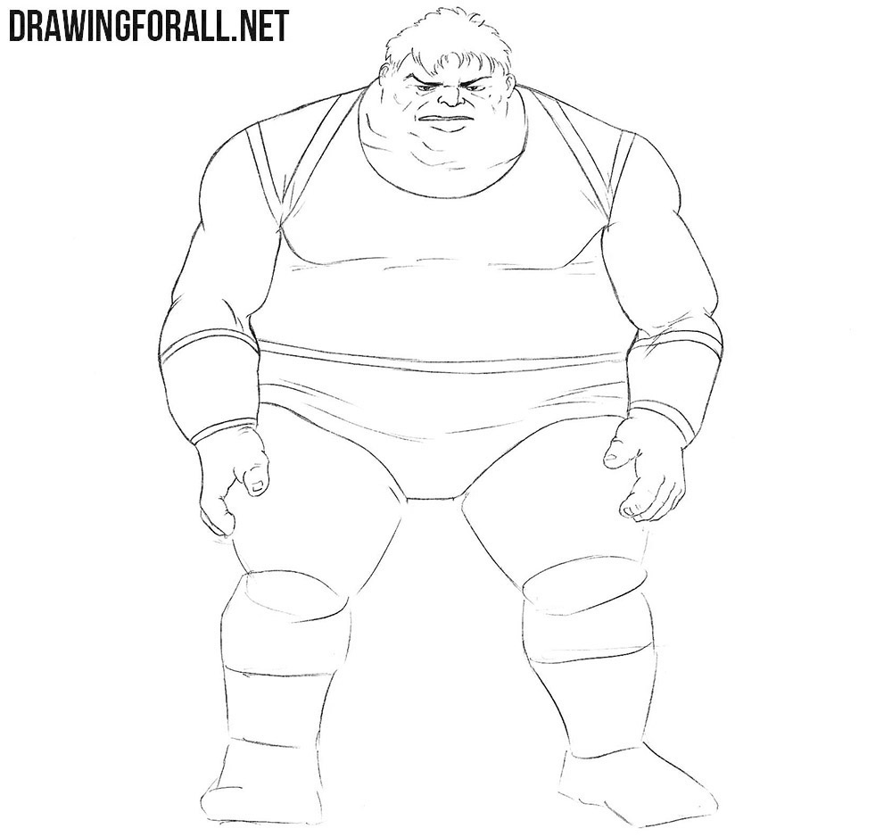 How to draw Blob from X Men