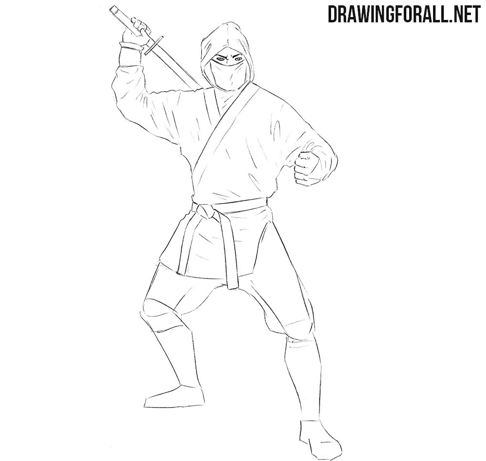 How to draw a ninja easy