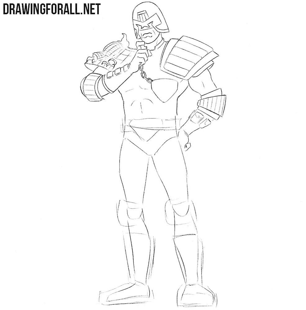 How to sketch Judge Dredd