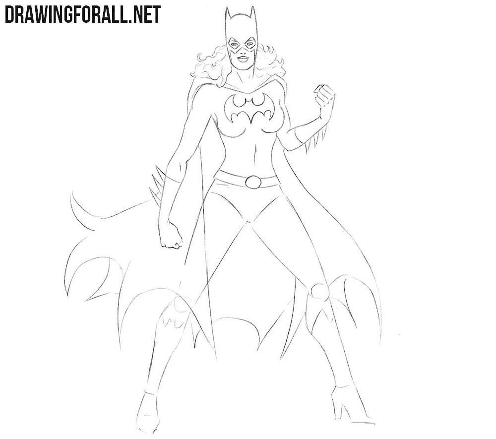How to sketch a Batgirl
