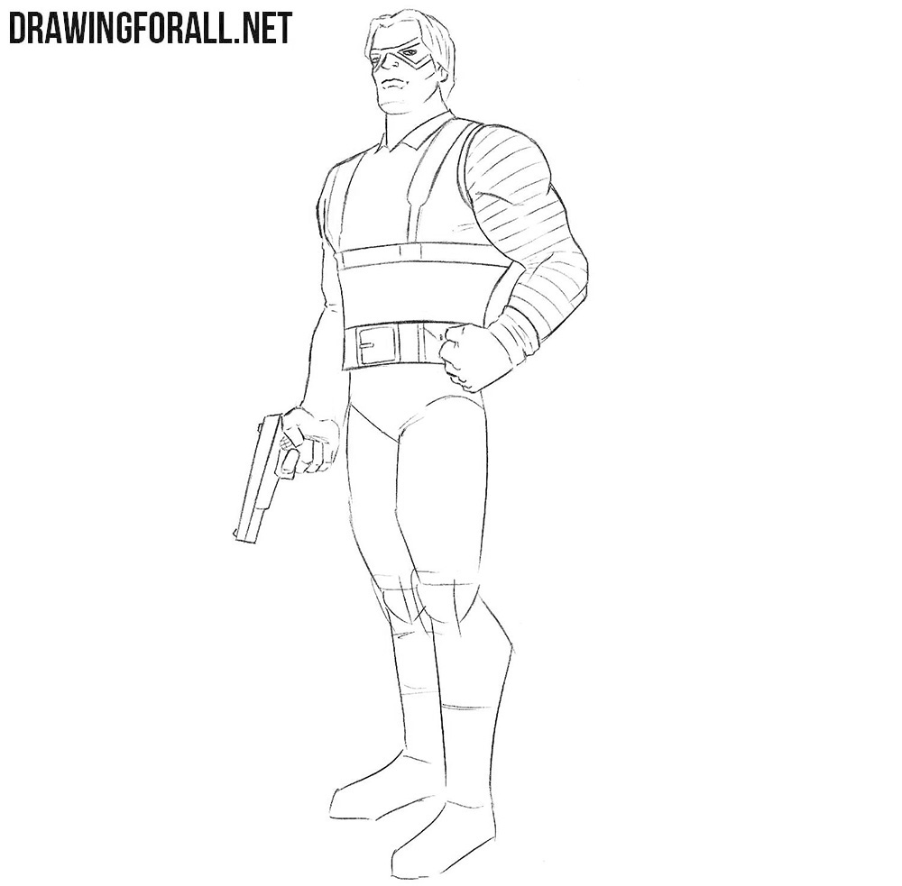 Learn how to draw Bucky Barnes