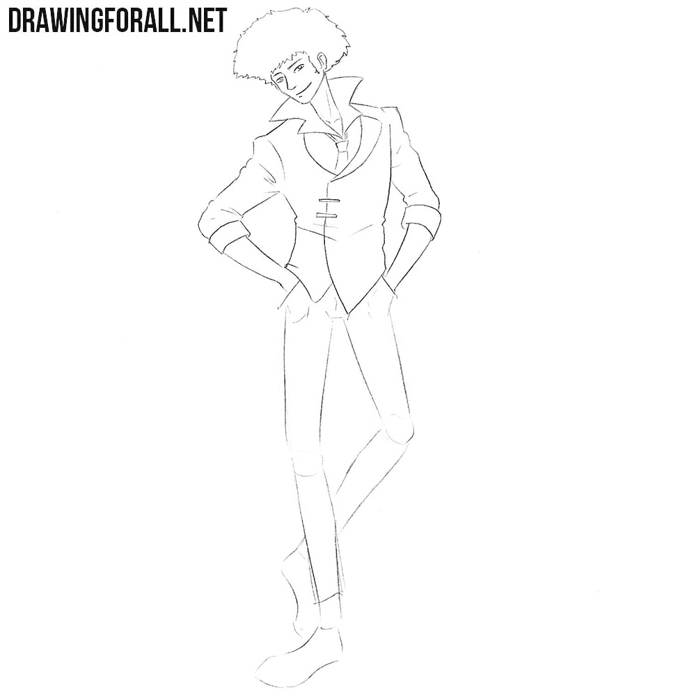 Learn how to draw Spike Spiegel from anime