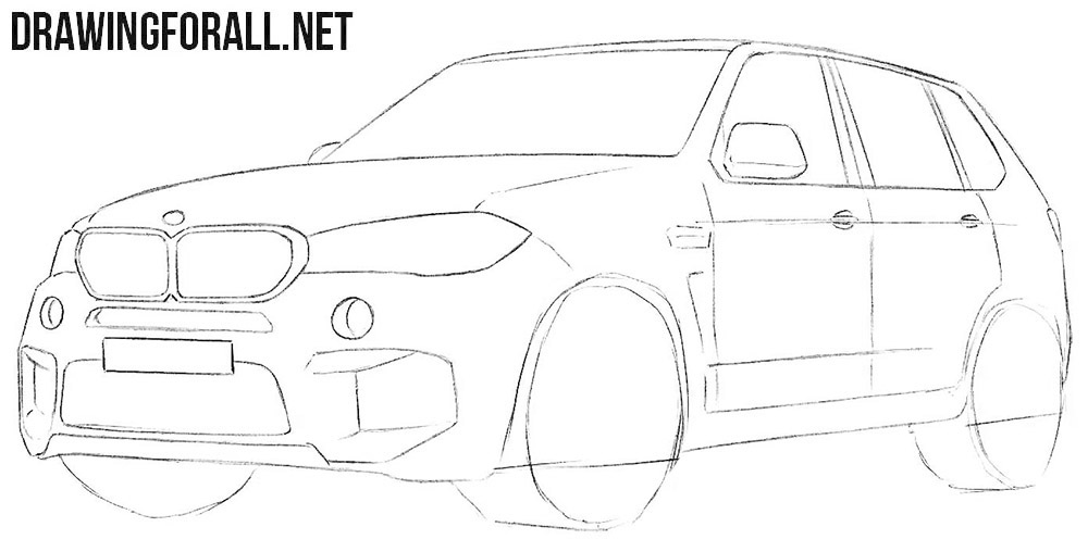 Learn how to draw a BMW X5