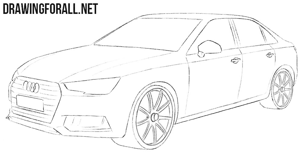 Audi A4 drawing tutorial